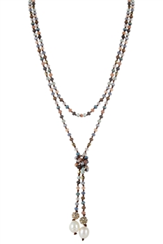 New Design Simple Crystal Beaded Long Necklaces N3053