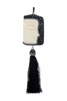 Hot Sale Half Face Buddha Tassel Pendants P0033