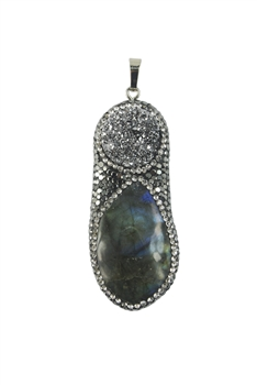 Fashion Stone Pendant with Crystals P0072