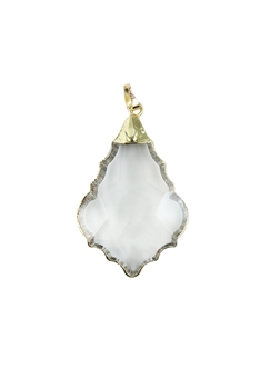 Clear Maple Pattern Crystal Statement Pendants P0080