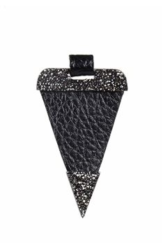 Newest Fashion Leather Triangle Necklace Pendants P0149