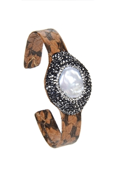 Fashion Crystal Pearl Cuff Bracelets B1926