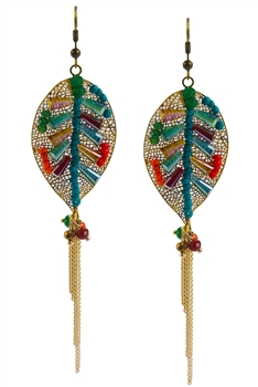 Crystal Tassel Earrings E2067