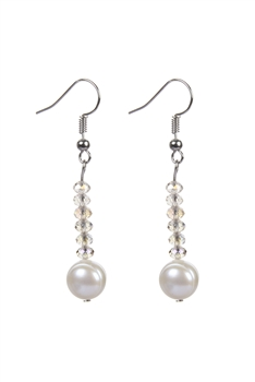 New Design Beaded Crystal Pearl Earrings E2074