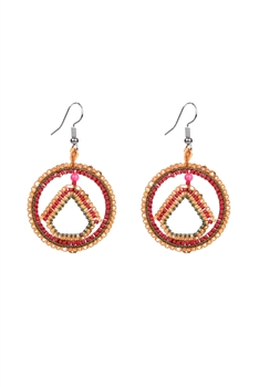 Round Crystal Bead Earrings E2107