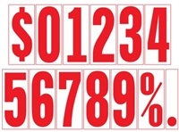 5½ Inch Red & White Numbers