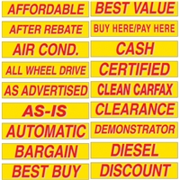 15 Inch Red & Yellow Sign