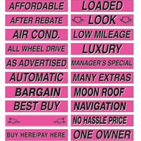 15 Inch Hot Pink Adhesive Sign