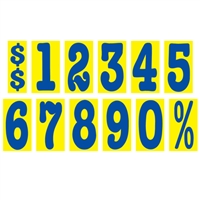 5½ Inch Blue & Yellow Mid-Size Windshield Numbers