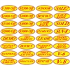 Red and Yellow Oval Slogans