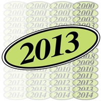 Chartreuse and Black Oval Year Sign