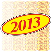 Red and Yellow Oval Year Sign