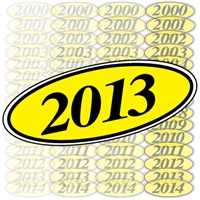 Black and Yellow Oval Year Sign