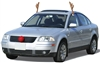 Clip On Reindeer Antler Car Set