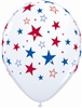 "16"" Red & Blue Star Balloons"