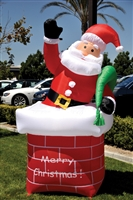 Holiday Inflatable - Santa w/ Chimney