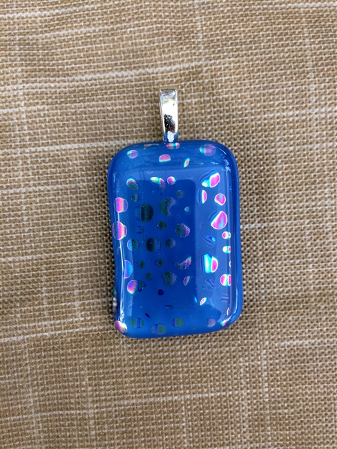 Blue Spotted Dichroic Pendant