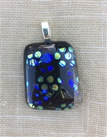 Spotted Dichroic Glass Pendant