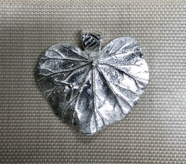 Fine Silver Geranium leaf with bee