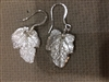 PMC Silver Fig Leaf Earrings