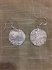 Double sided circular Fine Silver earrings