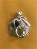 Fine Silver Scallop Pendant with Beach Glass