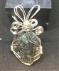 Wire wrapped Labradorite in the Rough