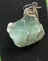 Sterling Silver Wire Wrapped Fluorite Crystal