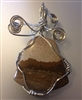 Wire Wrapped Picture Jasper Cabochon