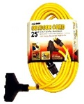 Outdoor 25' Extension Cord Triple Tap