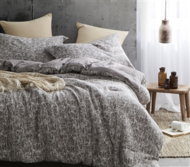 Atacama Desert Frosted Peppercorn Light Stone Gray Dorm Bedding Twin XL Comforter