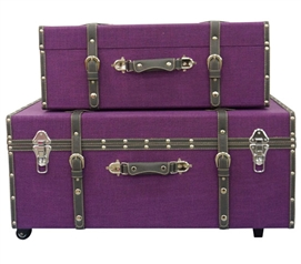 Dark Purple Texture - Collegiate Trunks Storage Trunks Dorm Trunks Dorm Room Decor