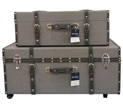Heather Gray Texture - Collegiate Trunks Storage Trunks Dorm Essentials