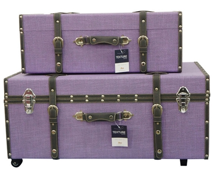 Lavender Texture - Collegiate Trunks Dorm Storage Solutions Dorm Room Storage