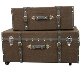 Multi Brown Texture - Collegiate Trunks Dorm Storage Solutions Dorm Room Decor