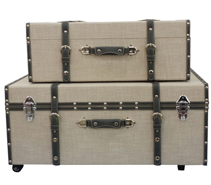 Pepper Sand Texture - Collegiate Trunks Storage Trunks Dorm Essentials