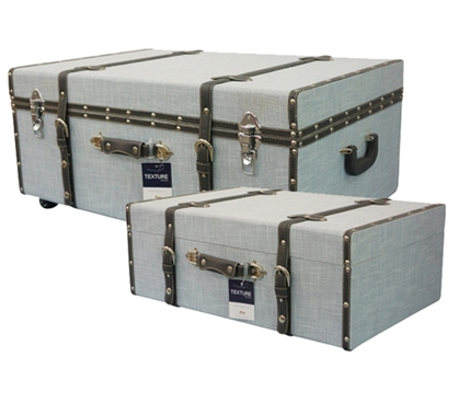 Soft Blue Texture - Collegiate Trunks Dorm Essentials Dorm Storage Solutions