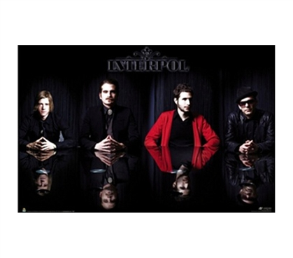 Interpol - Group Shot College Dorm Poster college dorm decor poster featuring famous band members from Interpol