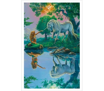 If I Were a Mermaid and You Were a Unicorn - Warren, Jim Poster - Classy Dorm Decor