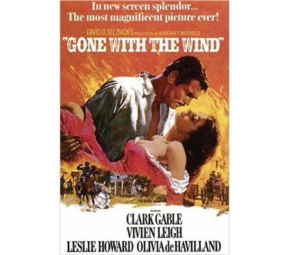 Classic Movie Poster - Gone With The Wind Poster - Cool College Poster