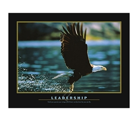 Leadership Inspirational College Dorm Poster soaring eagle dorm room inspirational Leadership college poster