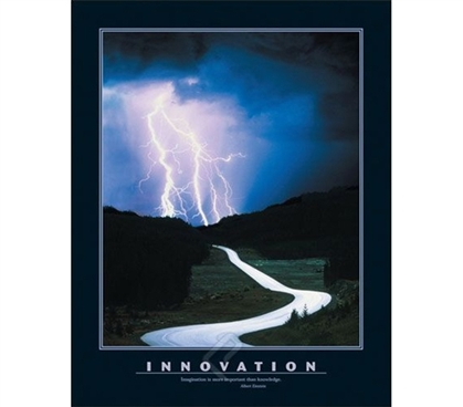 Innovation Poster - Inspire College Students with this poster for their dorm room walls