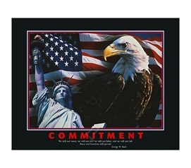 Commitment Poster - Inspiring Dorm Room Wall Poster