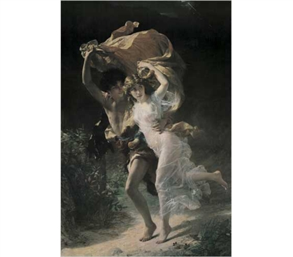 Decorate Your Dorm - The Storm - Cot, Pierre-Auguste Poster - Great Dorm Wall Decor