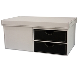 Black & White Series College-Ave - Side Drawers Black Dorm Essentials Dorm Storage Solutions