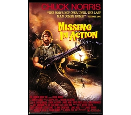 Missing in Action Chuck Norris Movie Poster