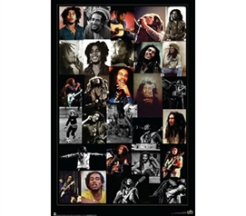 Bob Marley - Musician Collage Poster