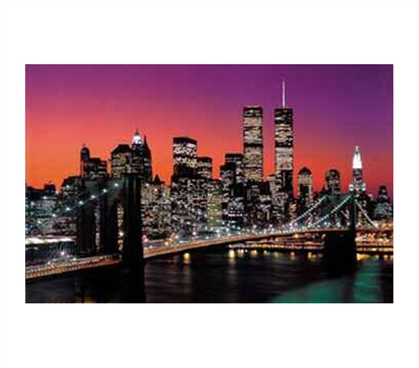 NY City Brooklyn Bridge Wall Poster