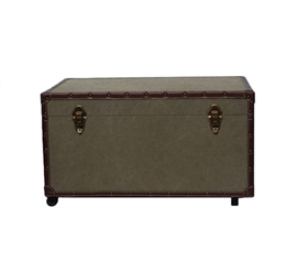 Damage-Resistant - The Original Anti-Scratch Dorm Trunk with Wheels - Great For Dorm Organization