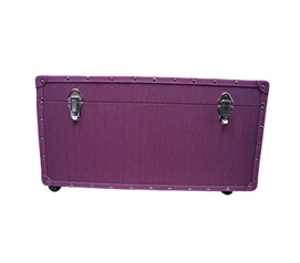 The Original Anti-Scratch Dorm Trunk with Wheels - Raspberry Pink - Great Dorm Organizer